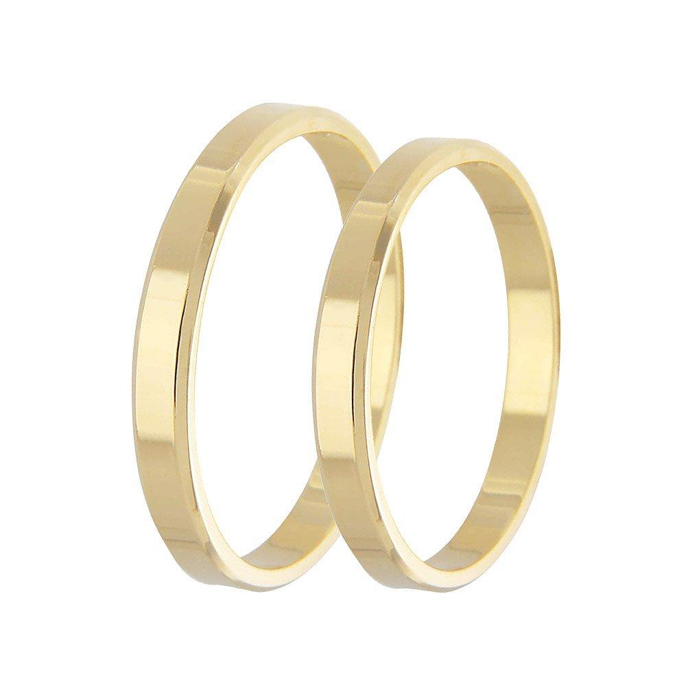 Aliança de Casamento Candle em Ouro Amarelo 18k (2.50mm)