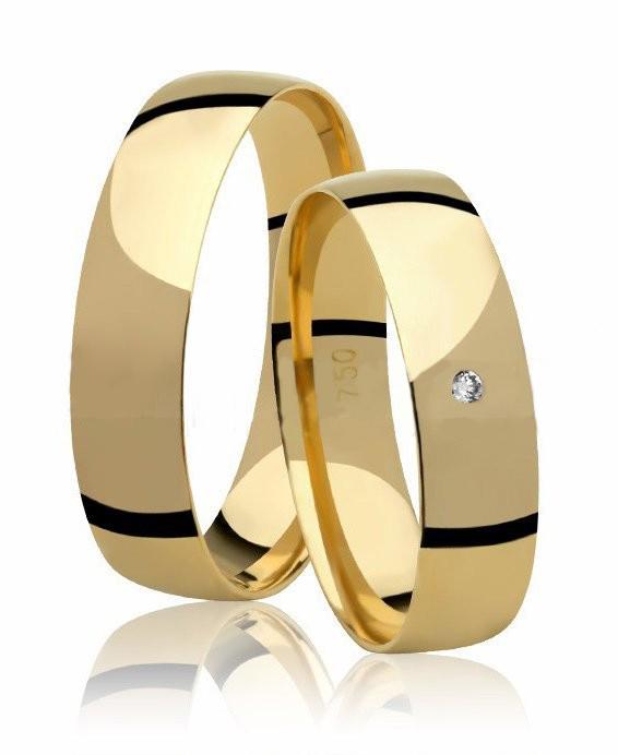 Aliança de Casamento  Anatômica Ouro 18k e Diamante (4.80mm)