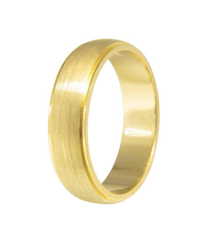 Aliança de Casamento em Ouro 18k Fosco Siàge (5mm)