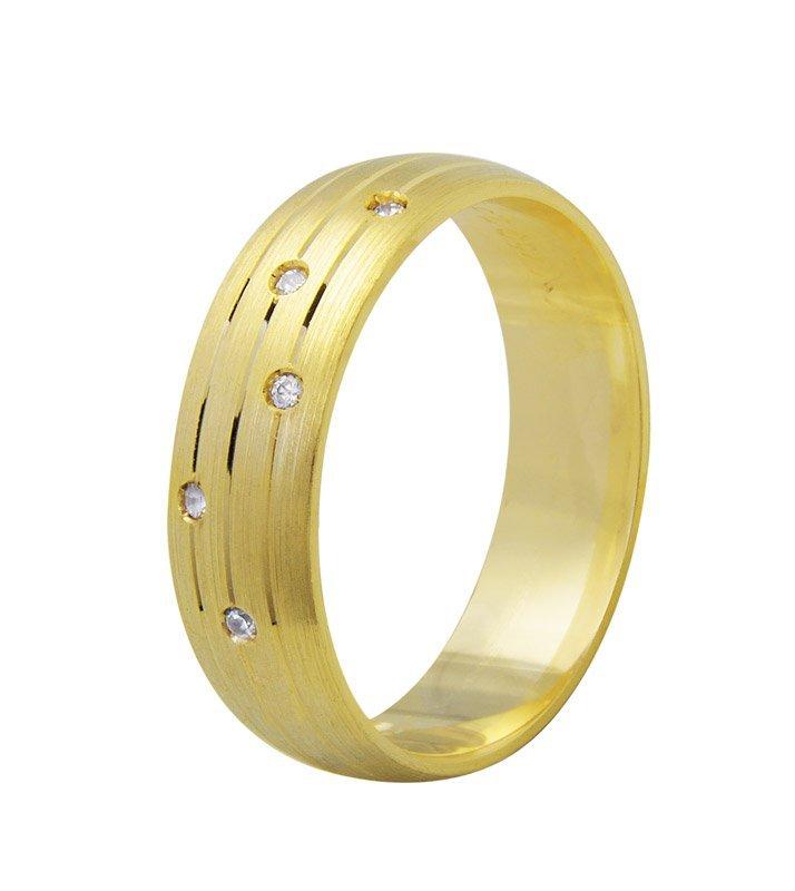 Aliança de Casamento Embrace em Ouro 18k Anatômica (6mm)