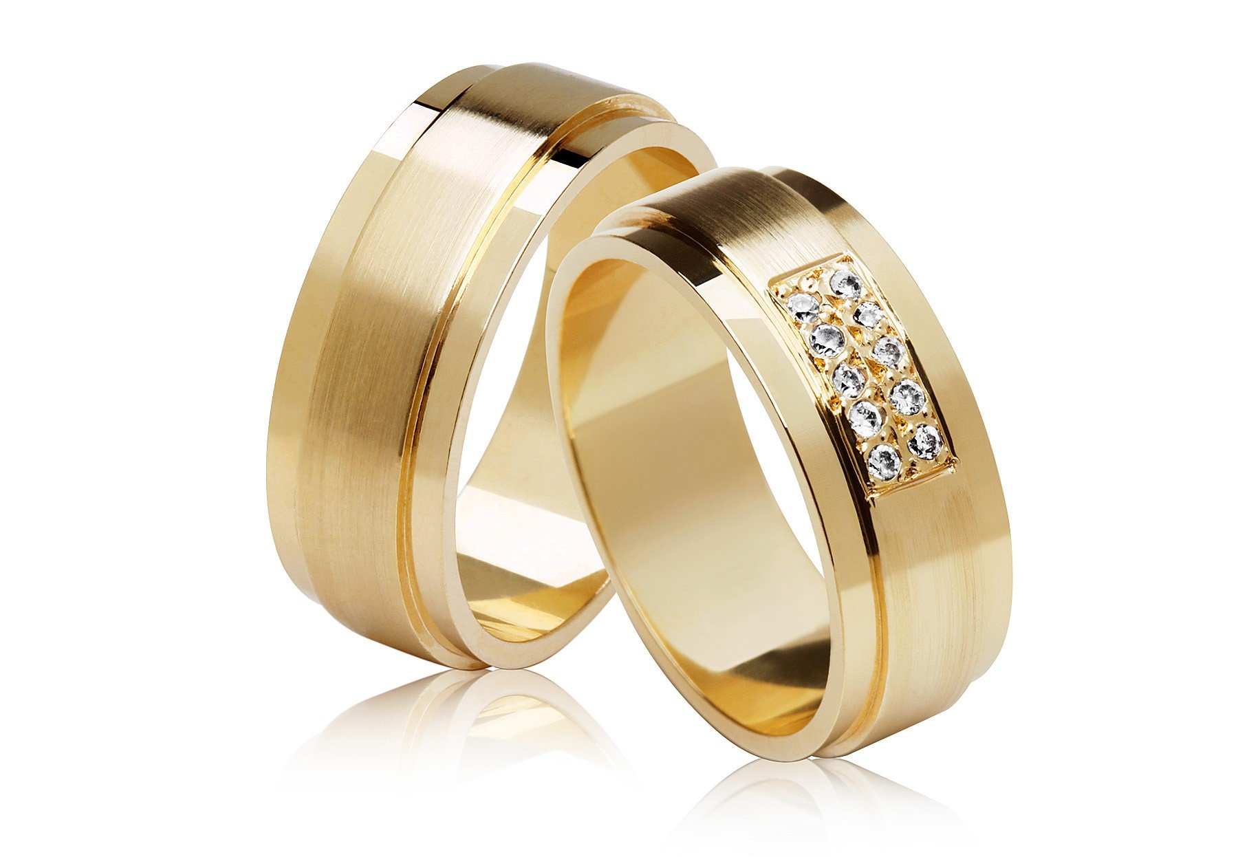 Aliança de Casamento Eterna Ouro Amarelo 18k (7.10mm)