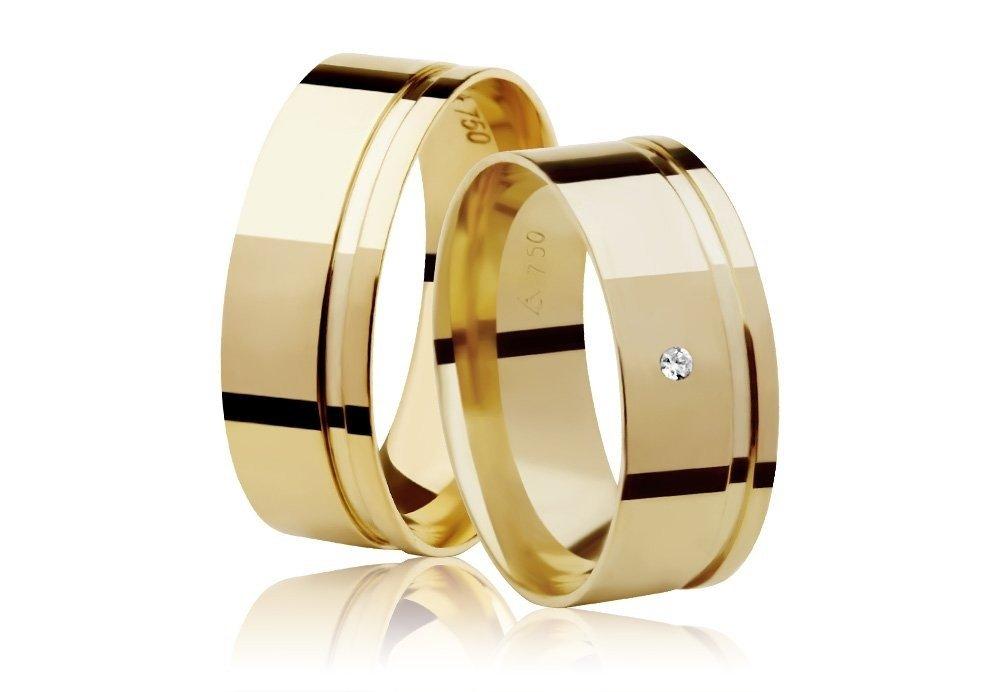 Aliança de Casamento Ouro Amarelo 18k  Frame Stone I (7mm)