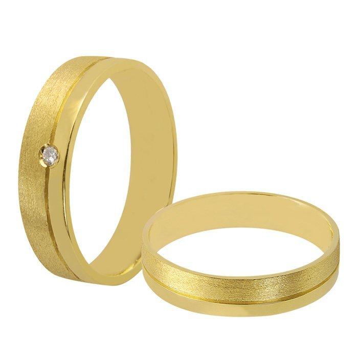 Aliança de Casamento Ouro Amarelo (4.5mm)