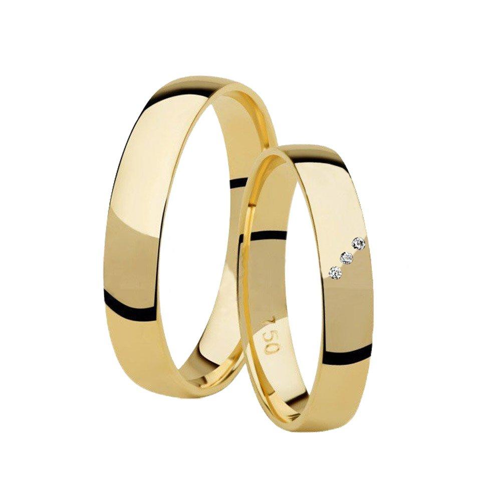 Aliança de Casamento Prime Anatômica Ouro Amarelo 18k (3.45mm)