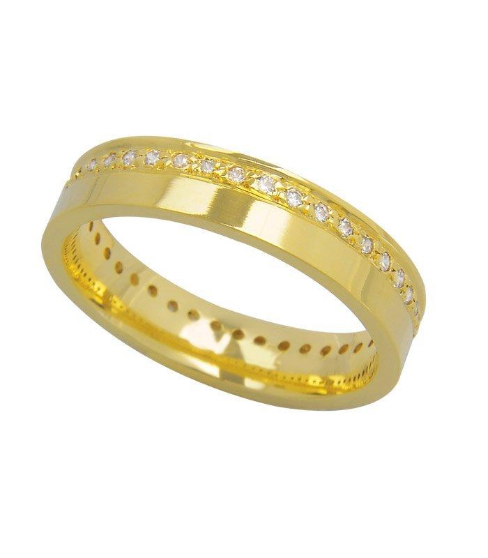 Aliança de Casamento True Love em Ouro Amarelo 18k (4.10mm)