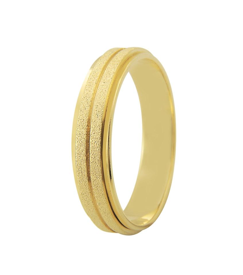 Aliança de Ouro 18k Diamantada Bride (5mm)