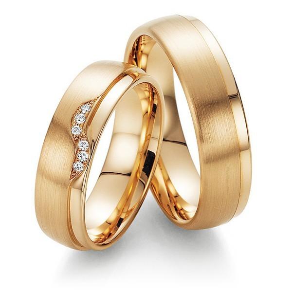Aliança de Casamento em Ouro 18k Fosco (5mm)
