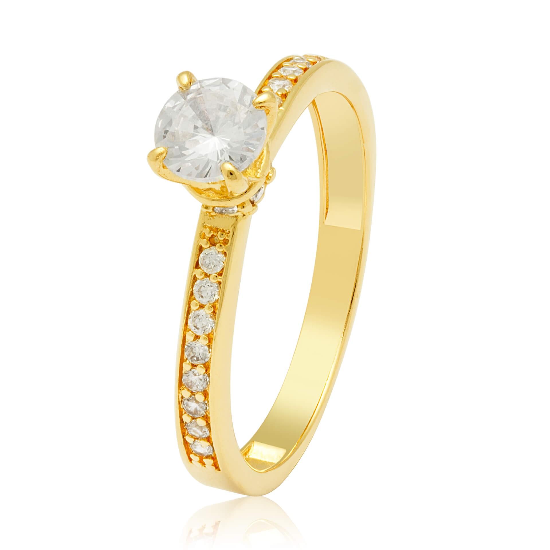 Solitário Tiffany Ouro Amarelo 18k e 70,7 Pontos de Diamantes