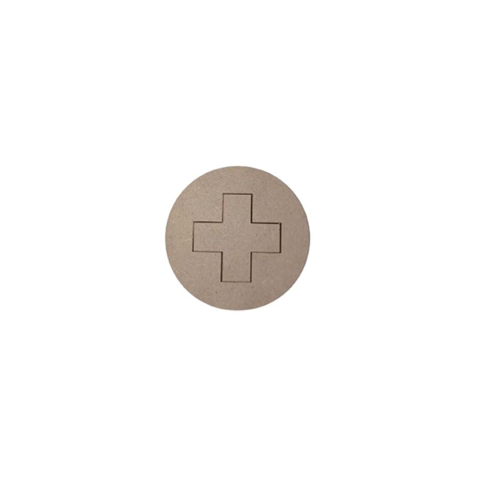 Aplique em MDF - Cruz Farmacinha