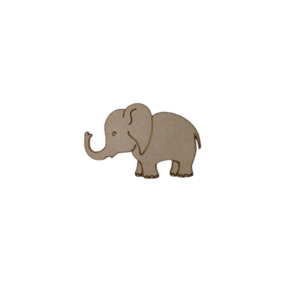 Aplique em MDF - Elefante