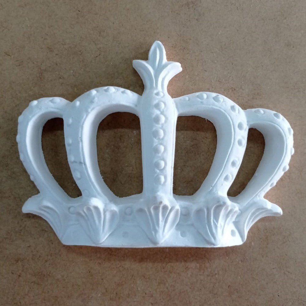 Aplique em Resina - Coroa Real Grande