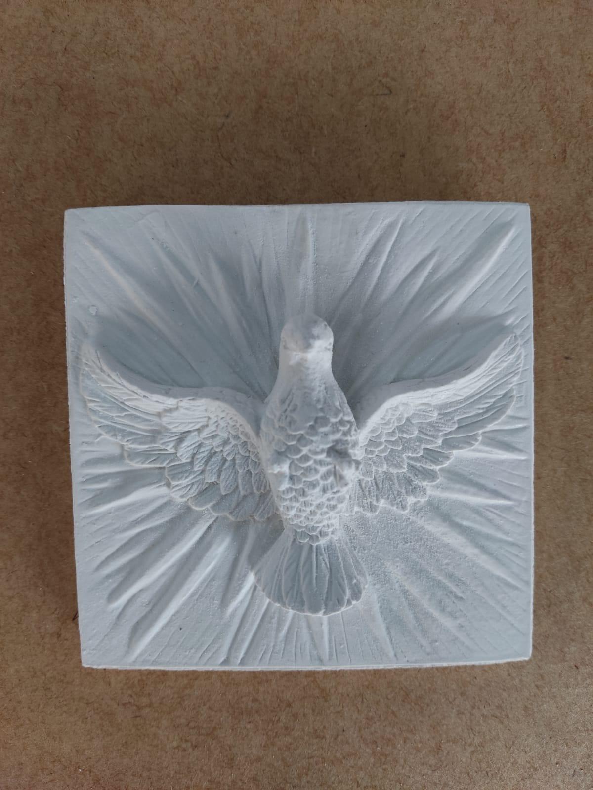 Aplique em Resina - Azulejo Divino Espirito Santo 9,5X9,5