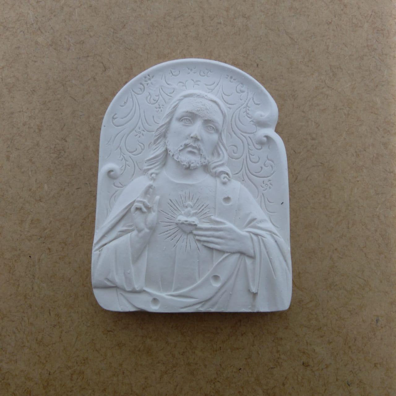 Aplique em  Resina - Imagem Jesus - 9X6,5