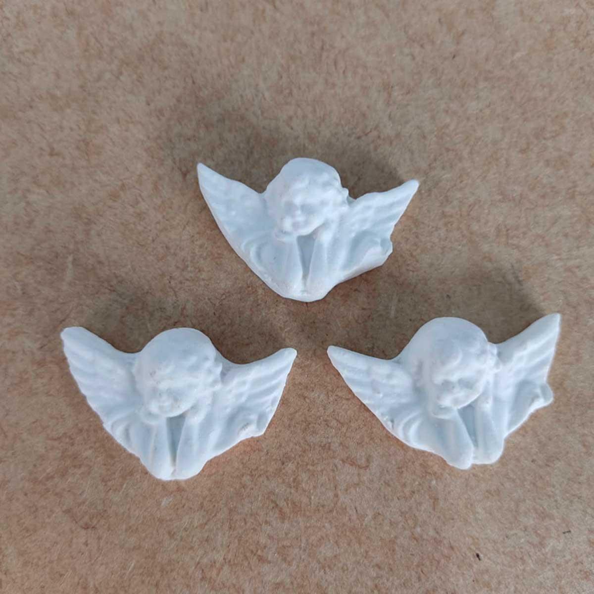 Aplique em Resina - Trio de Anjos 3,5X2,5