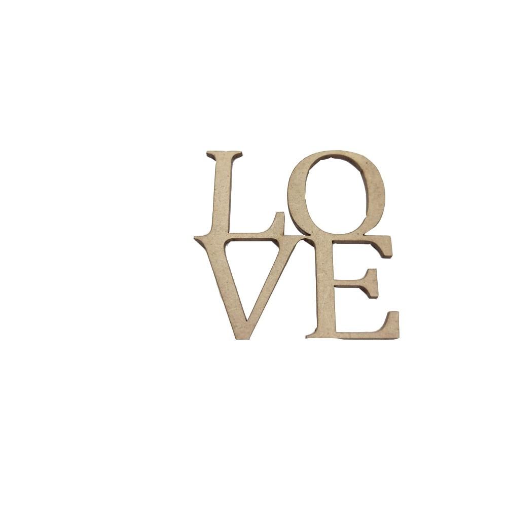 Aplique Love em MDF