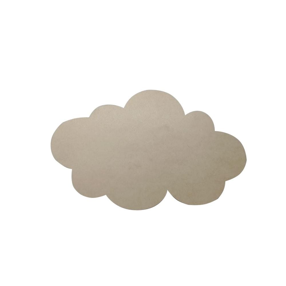 Aplique Nuvem em MDF 40x25