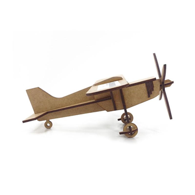 Avião em MDF - Asa Simples 20x21cm