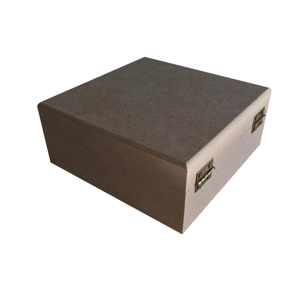 Caixa em MDF 20x20x8 - Tampa com dobradiças