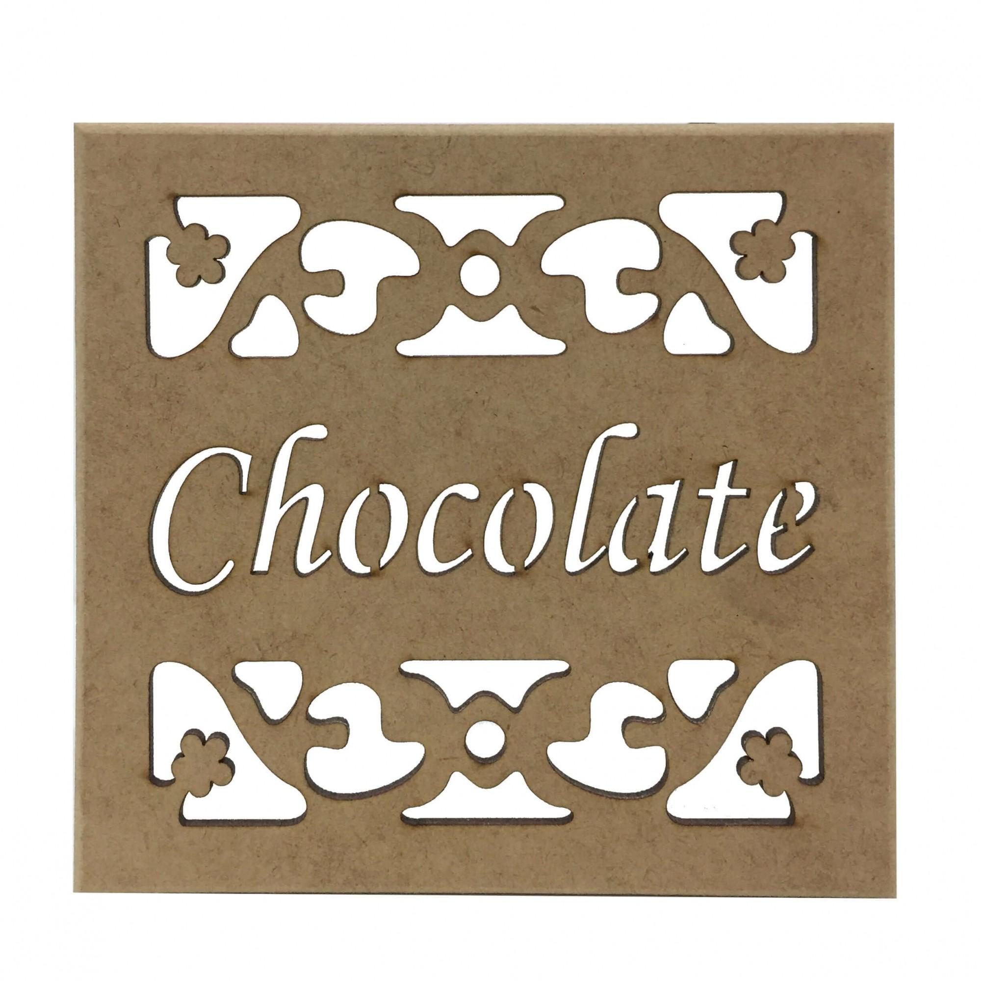Caixa em MDF - Chocolate
