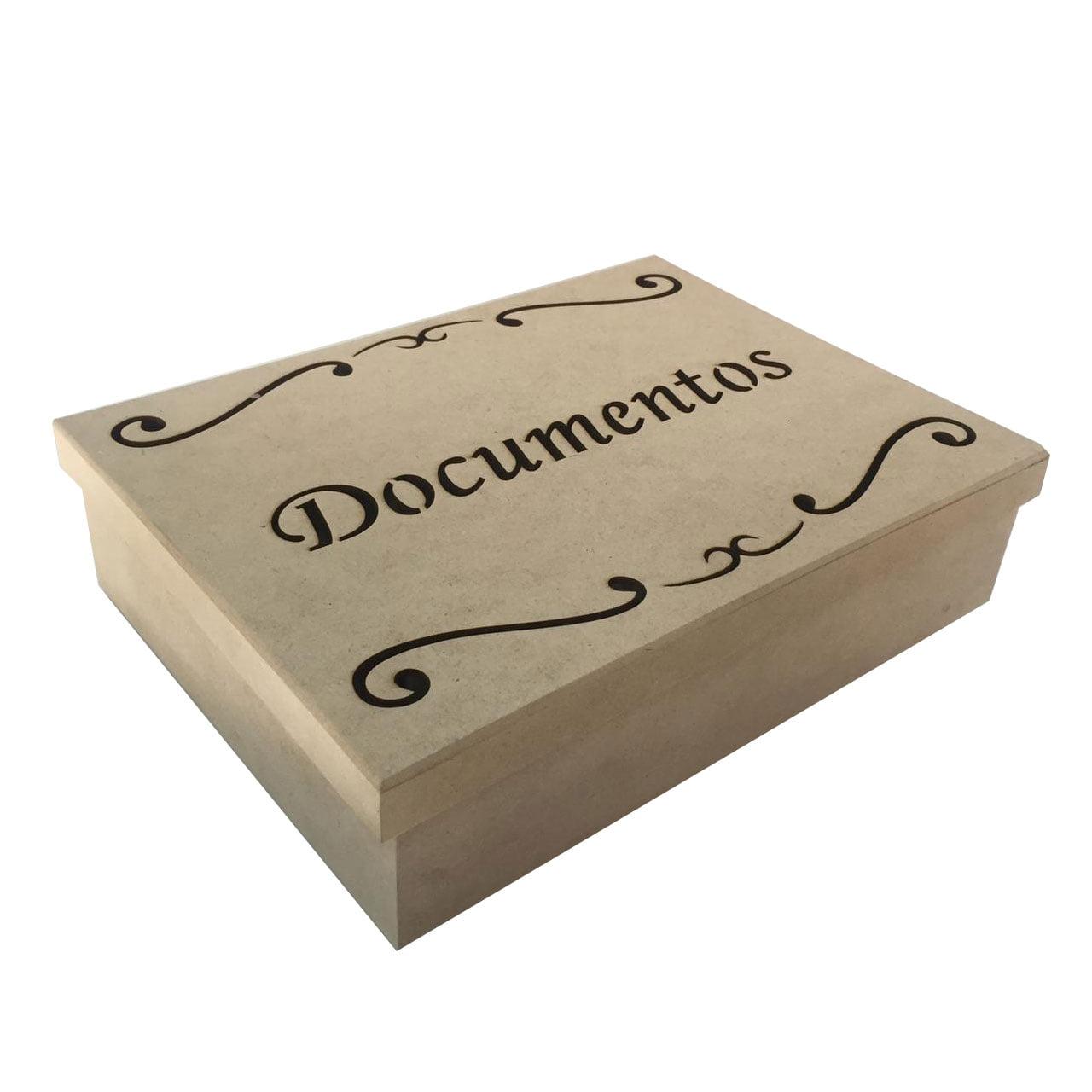 Caixa em MDF - Documentos 33x25x9