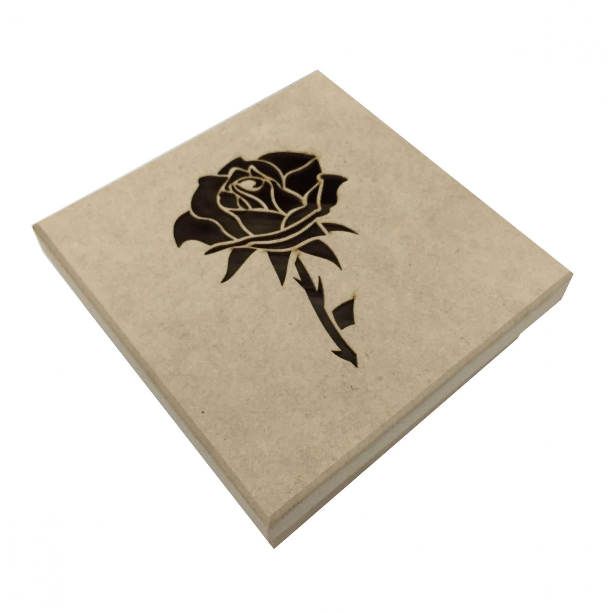 Caixa em MDF - Rosa