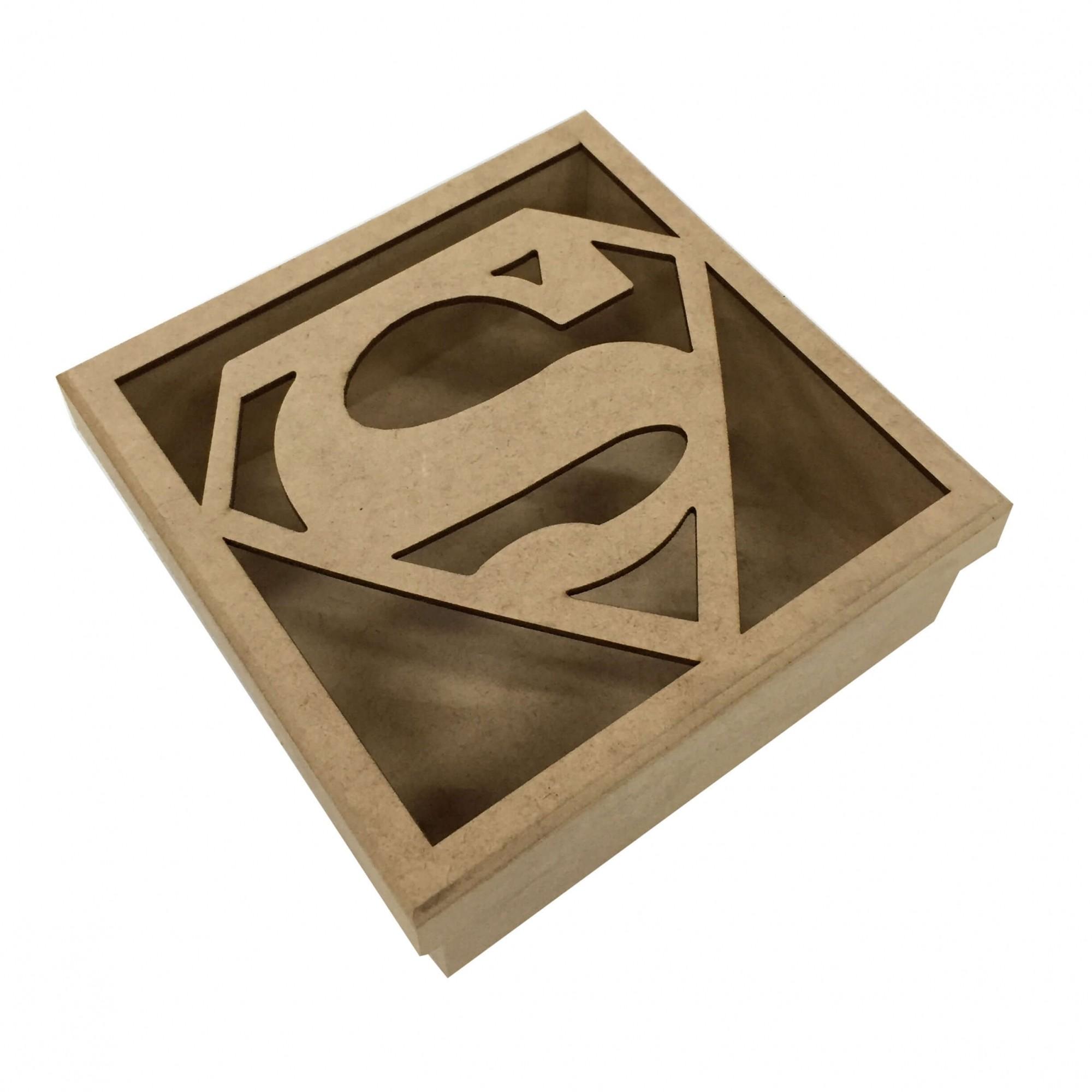 Caixa em MDF - Super Homem