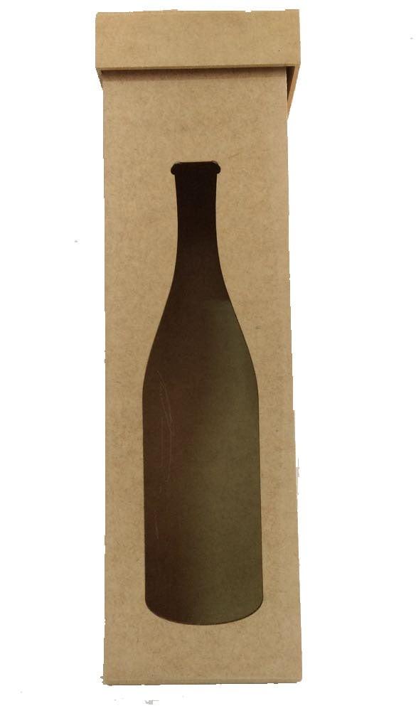 Caixa em MDF - Vinho 35x10x10
