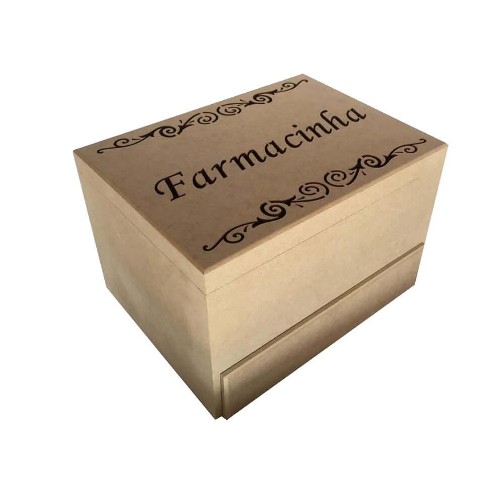 Caixa Farmacinha em MDF - 1 gaveta