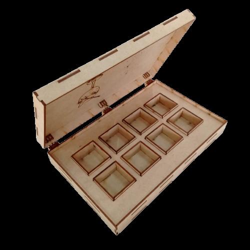 Caixa Gin - Especiarias - 8 Potes 27x18x5