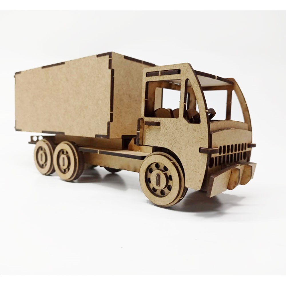 Caminhão em MDF - Baú