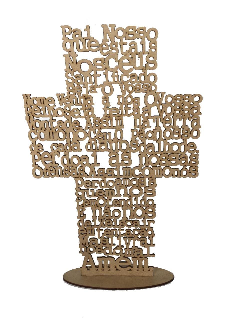 Cruz Pai Nosso em MDF
