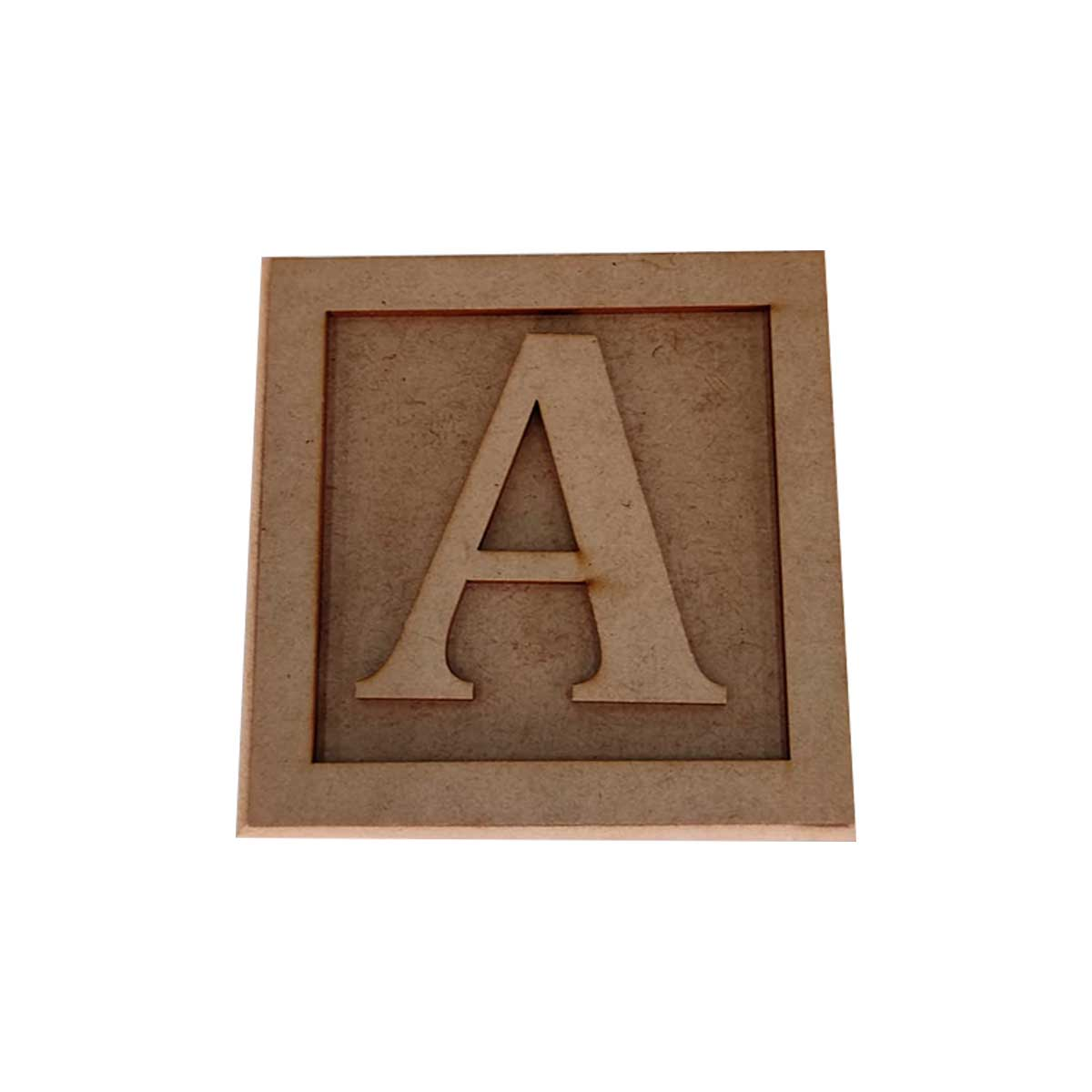 Cubo 10cm + Letra / Moldura