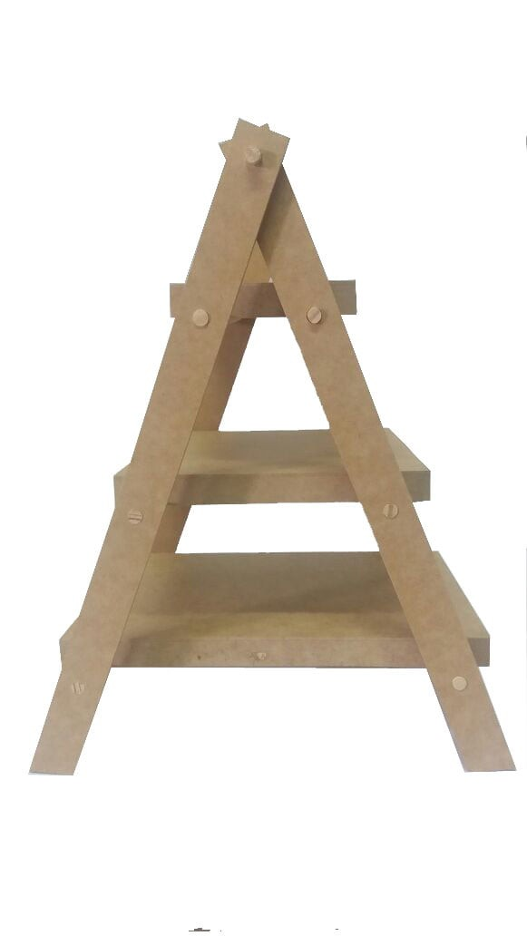Escada em MDF Para Doces - 3 Degraus / Mesa