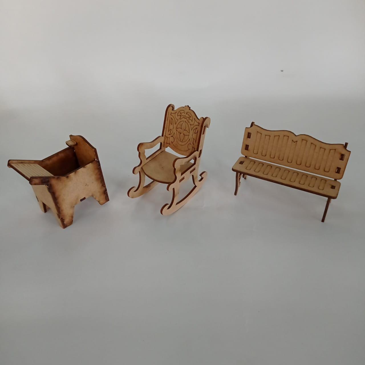 Kit Móveis para Casinha - Médio