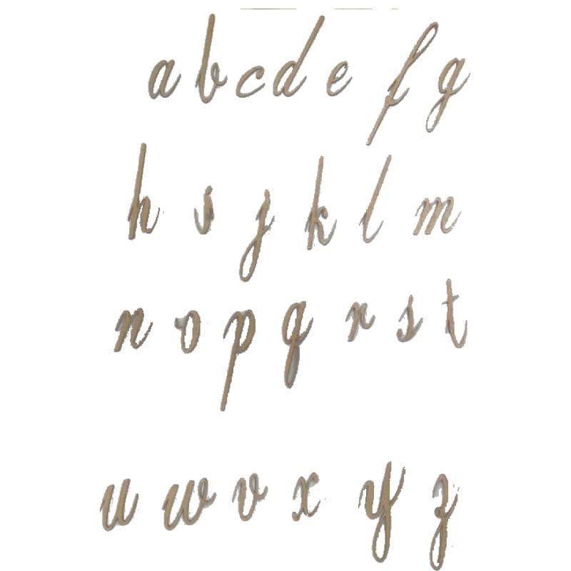 Letras em MDF - Cursiva 3cm