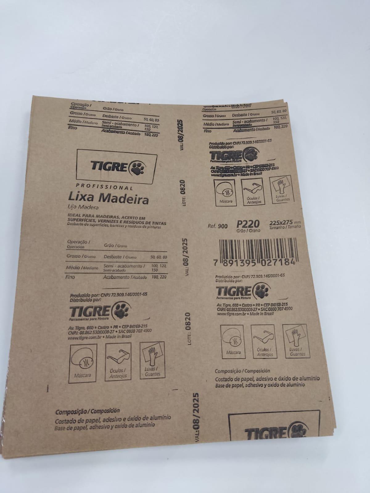 Lixa P220 para MDF