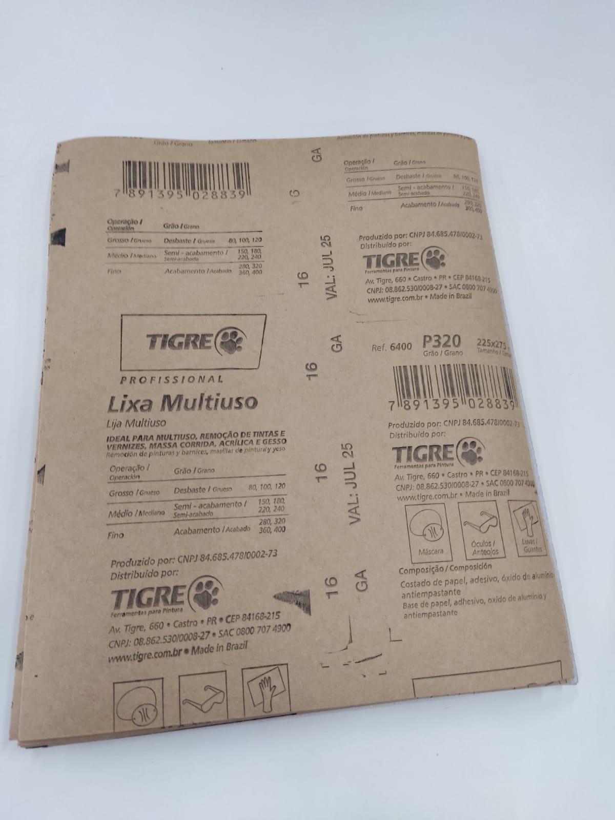 Lixa P320 para MDF