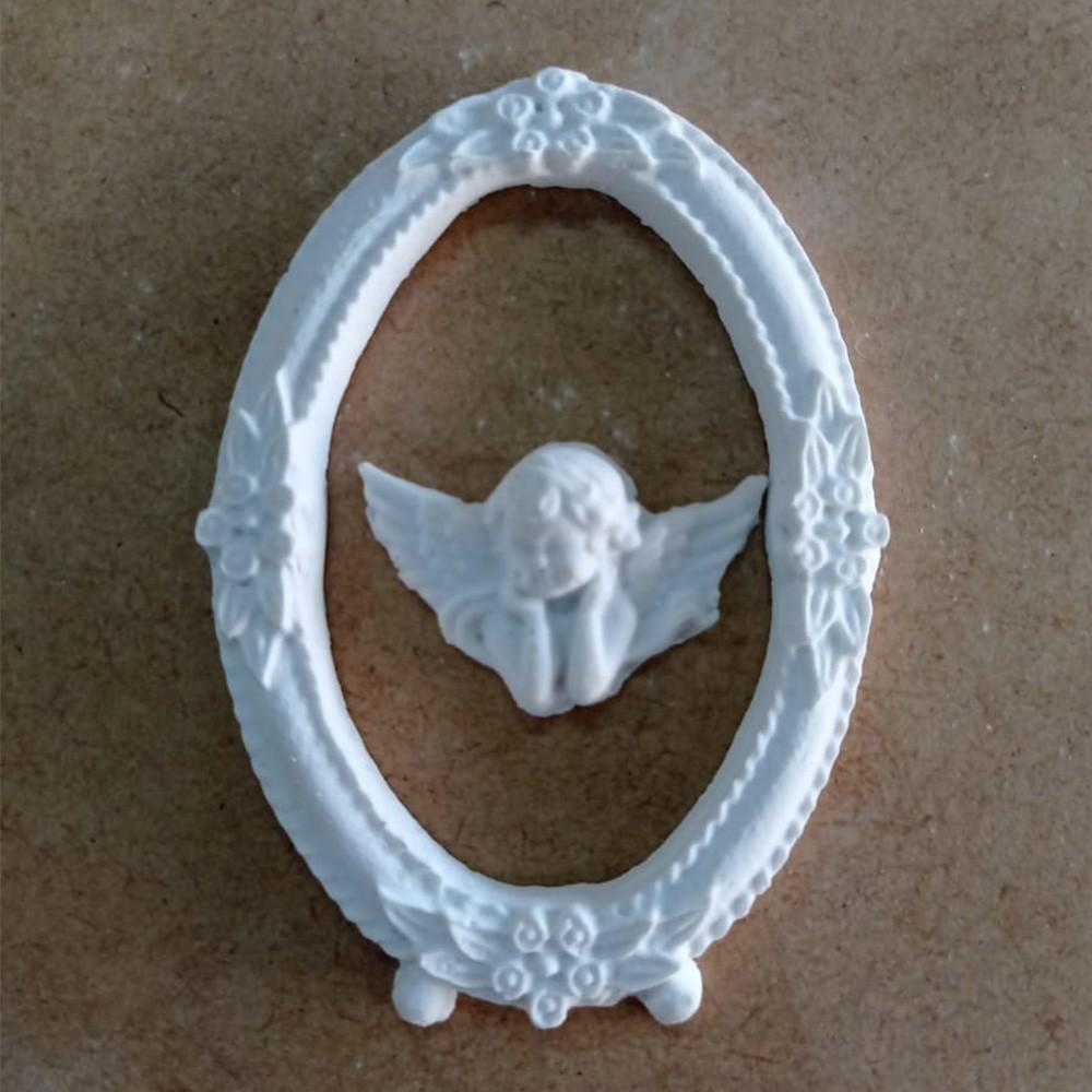 Moldura em Resina - Oval Anjo Mini