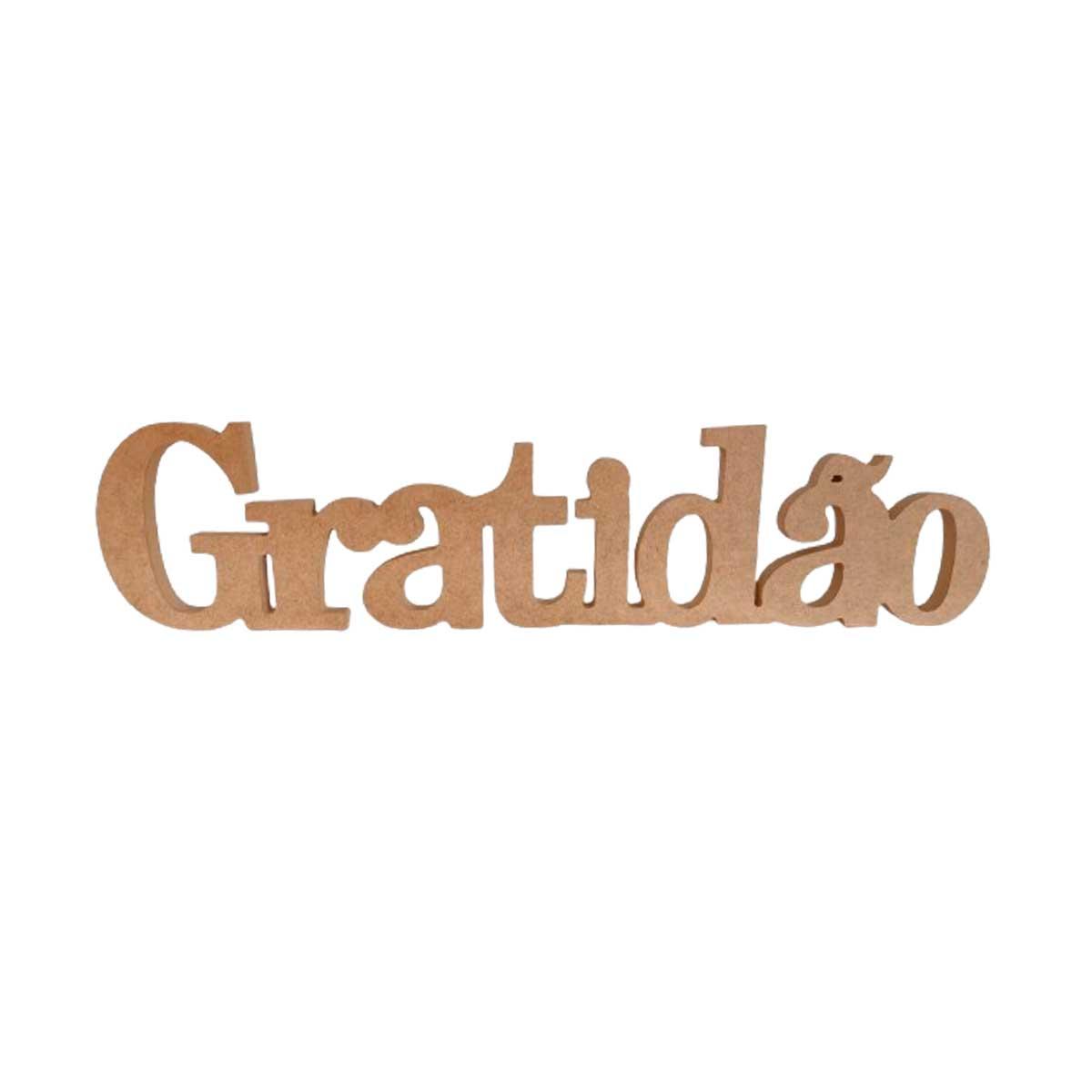 Palavra Gratidão em MDF