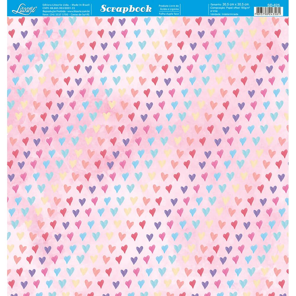 Papel Scrabook - Litoarte SD-625