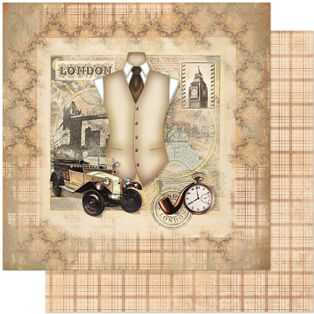 Papel Scrabook - Litoarte SD-786