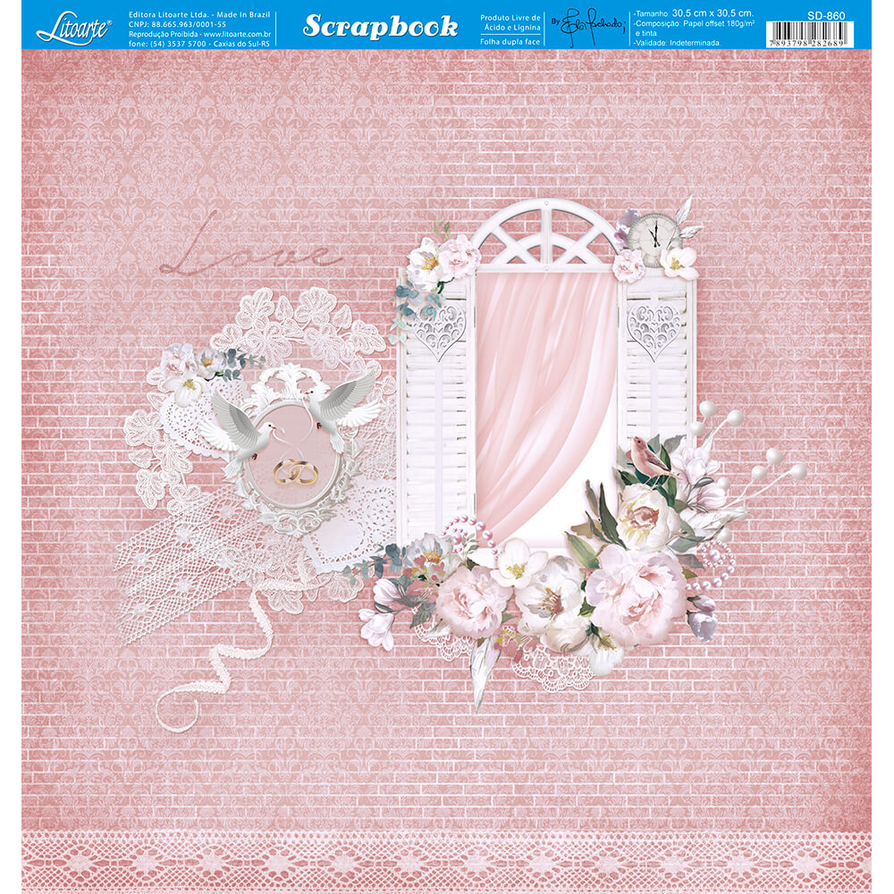 Papel Scrabook - Litoarte SD-860