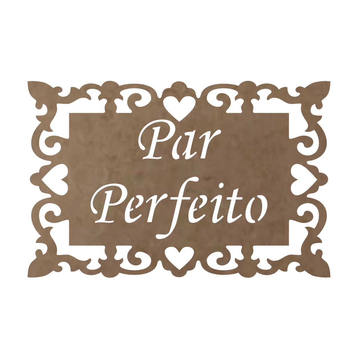"""Placa em MDF Para Casamento """"Par Perfeito"""""""