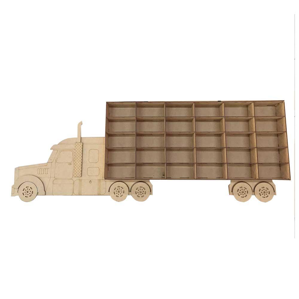 Porta Carrinhos em MDF - Caminhão 30 Lugares