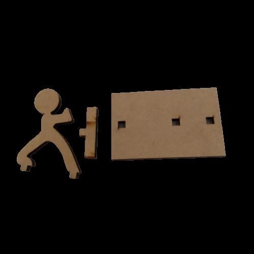 Porta Celular Kung Fu em MDF