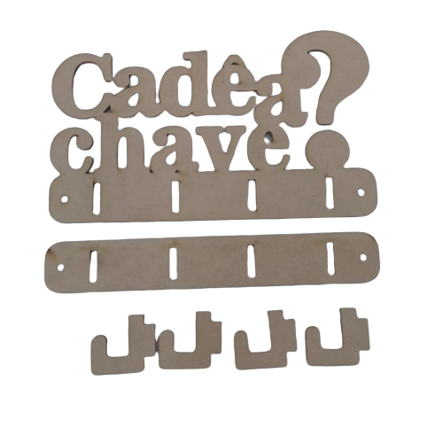 Porta Chaves - Cadê a Chave? c/ gancho