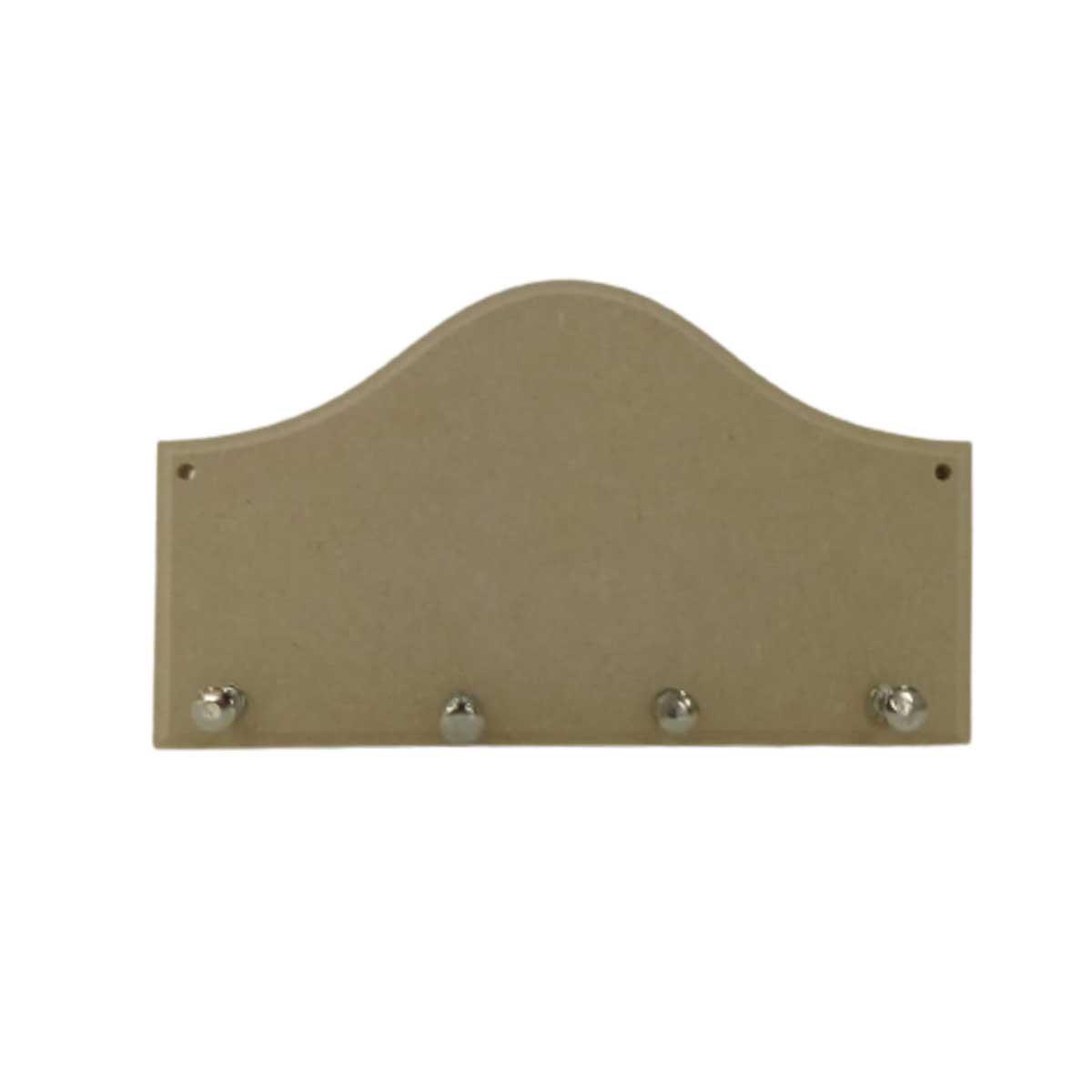 Porta Chaves em MDF - Liso 20X11,5cm