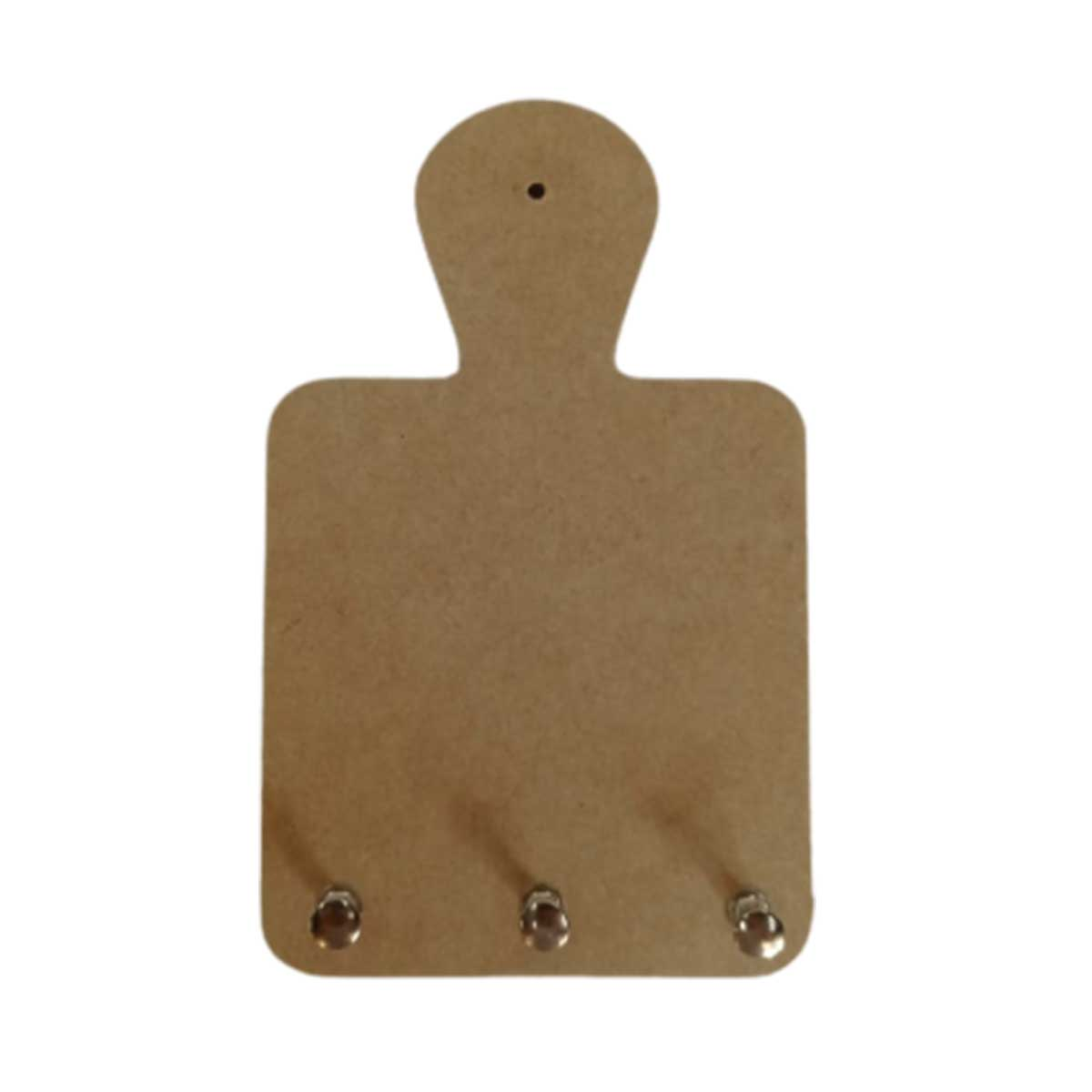 Porta Chaves em MDF - Tábua de Carne 11,5x18,5x3cm