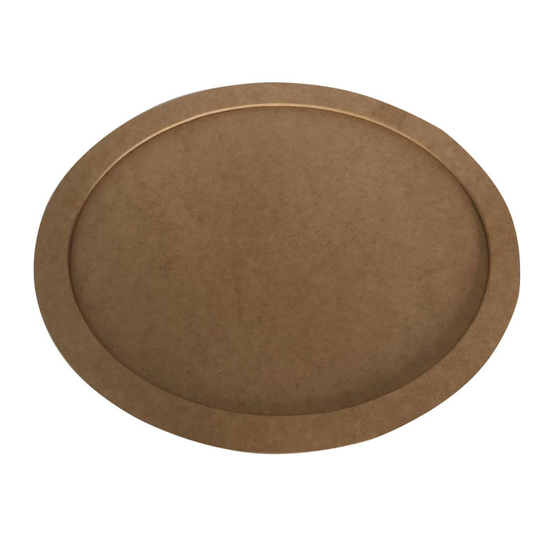 Quadro Oval em MDF - 23cm