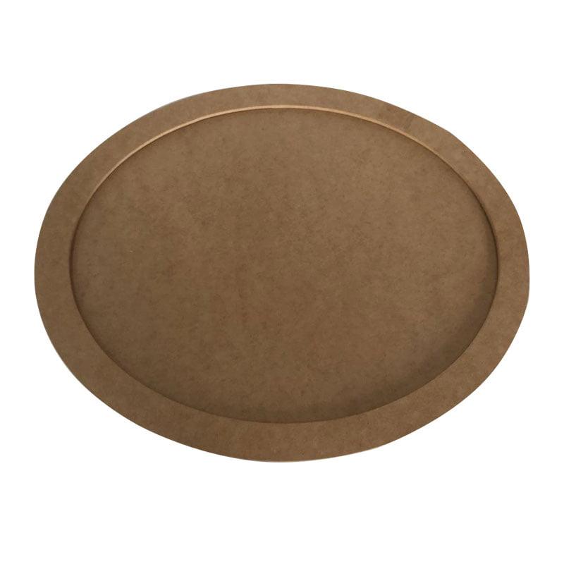 Quadro Oval em MDF - 30cm